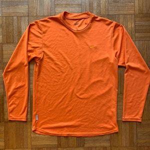 Men's Nike Dri Fit Orange Long Sleeve Shirt Medium